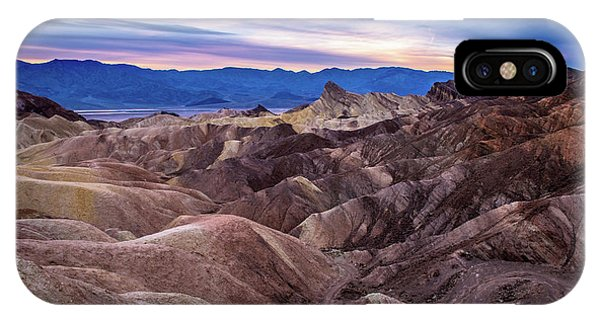 Sunset At Zabriskie Point In Death Valley National Park IPhone Case