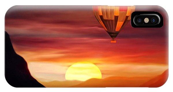 Sunset Balloon Ride IPhone Case