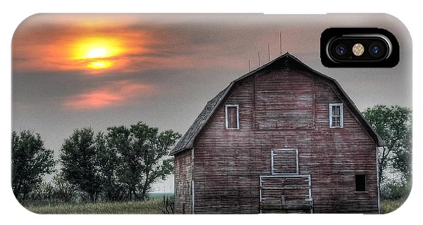 Sunset Barn IPhone Case