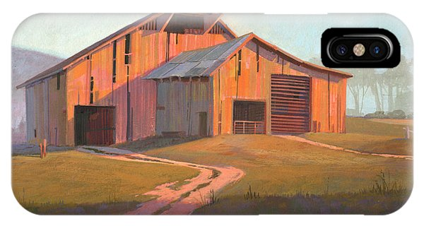 Simple Landscape iPhone Case - Sunset Barn by Michael Humphries