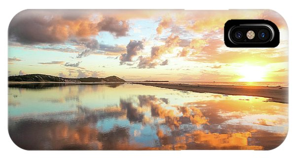 Sunset Beach Reflections IPhone Case