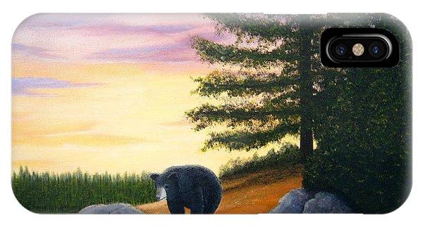 Sunset Bear IPhone Case