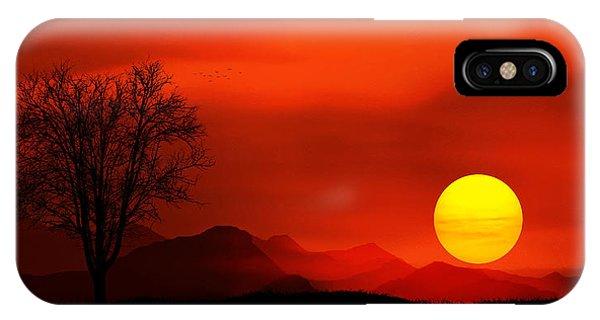 Poppies iPhone Case - Sunset by Bess Hamiti