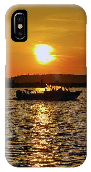 Sunset Boat IPhone Case