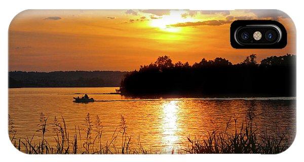 Sunset Boater, Smith Mountain Lake IPhone Case