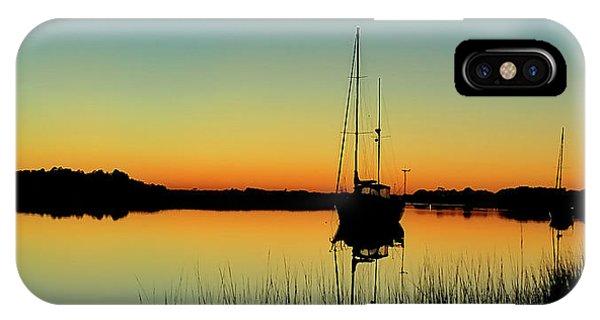 Sunset Bowens Island IPhone Case