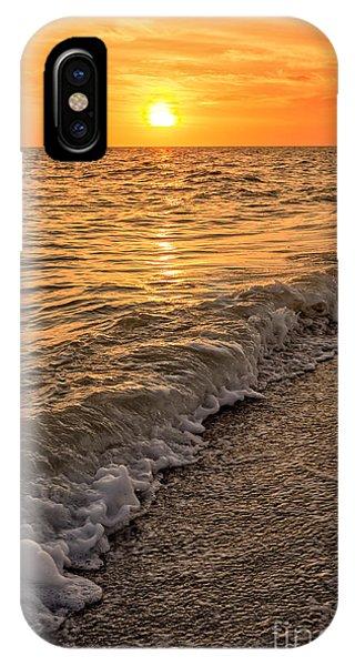 Sonne iPhone Case - Sunset Bowman Beach Sanibel Island Florida  by Edward Fielding
