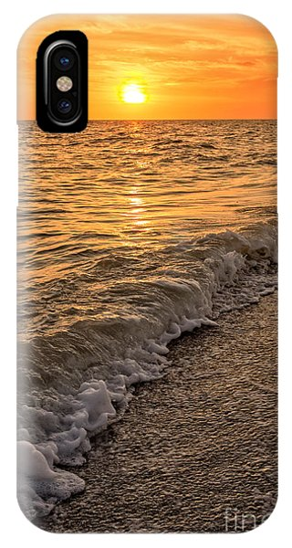 Condo iPhone Case - Sunset Bowman Beach Sanibel Island Florida  by Edward Fielding