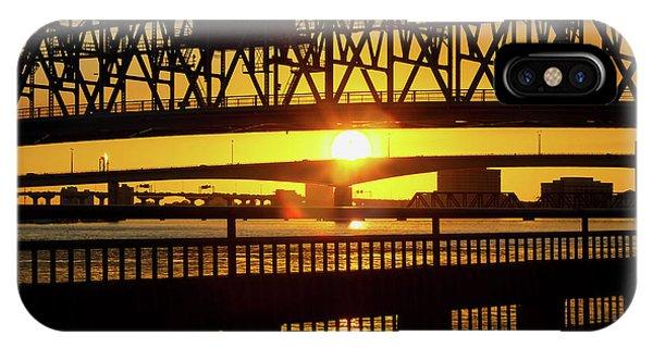 Sunset Bridge 3 IPhone Case