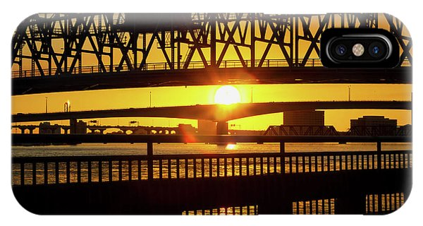 Sunset Bridge 3 IPhone Case