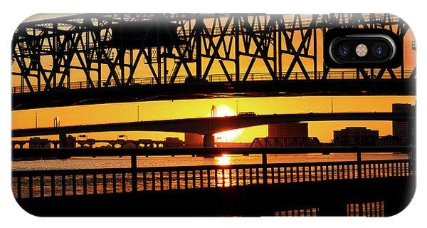Sunset Bridge 4 IPhone Case