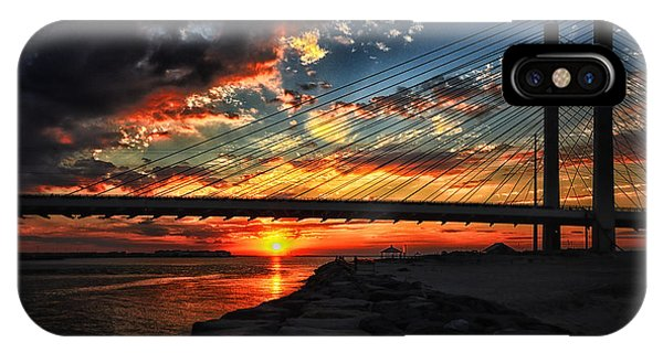 Sunset Bridge At Indian River Inlet IPhone Case