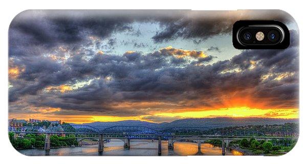 Sunset Bridges Of Chattanooga Walnut Street Market Street IPhone Case