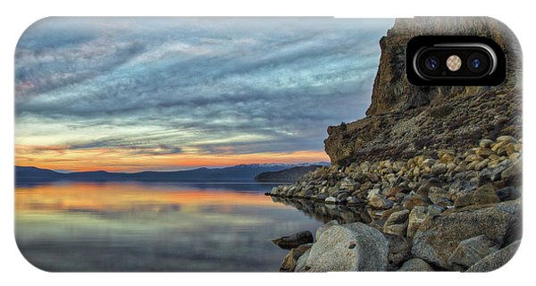Sunset Cave Rock 2015 IPhone Case