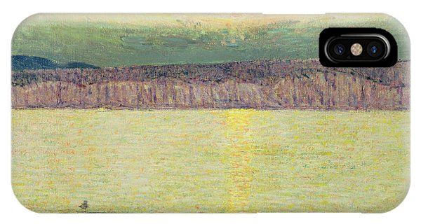 Sunny iPhone Case - Sunset by Childe Hassam