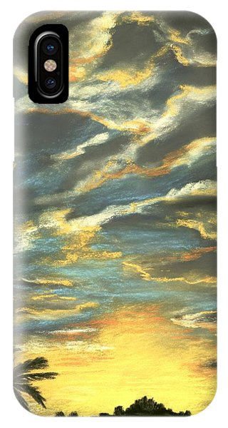 IPhone Case featuring the painting Sunset Clouds by Anastasiya Malakhova