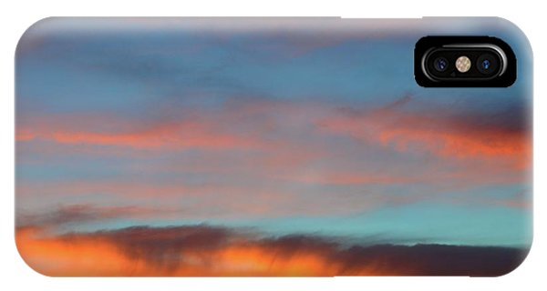 Sunset Clouds In Blue Sky  IPhone Case