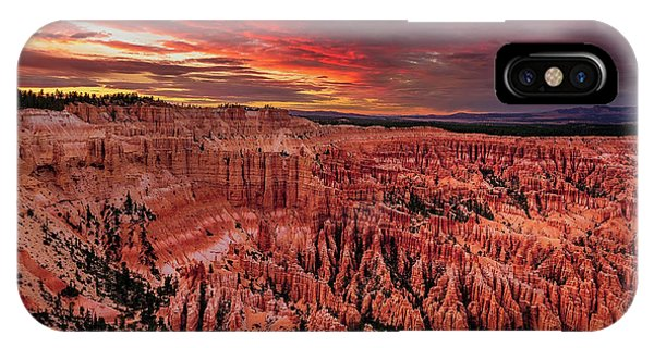 Sunset Clouds Over Bryce Canyon IPhone Case