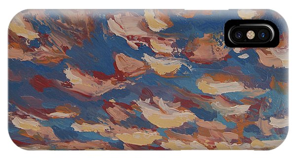 IPhone Case featuring the painting Sunset Clouds Over Santa Fe by Erin Fickert-Rowland
