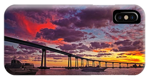 Sunset Crossing At The Coronado Bridge IPhone Case