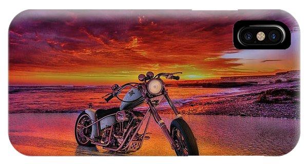 sunset Custom Chopper IPhone Case