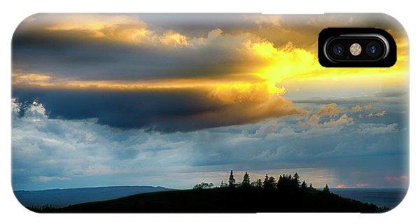 iPhone Case - Sunset Cypress Hills Saskatchewan Canada by Bob Christopher