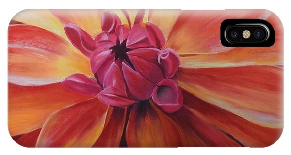 Sunset Dahlia IPhone Case