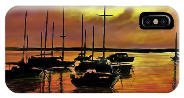IPhone Case featuring the digital art Sunset by Darren Cannell