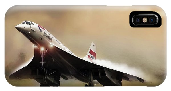Concorde iPhone Case - Sunset Departure by Peter Chilelli