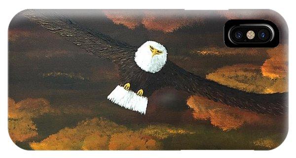 Sunset Eagle IPhone Case