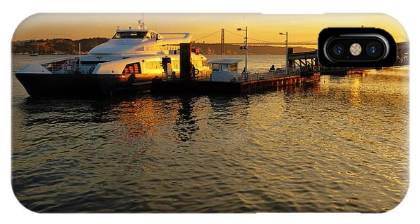 Catamaran iPhone Case - Sunset Ferryboat by Carlos Caetano