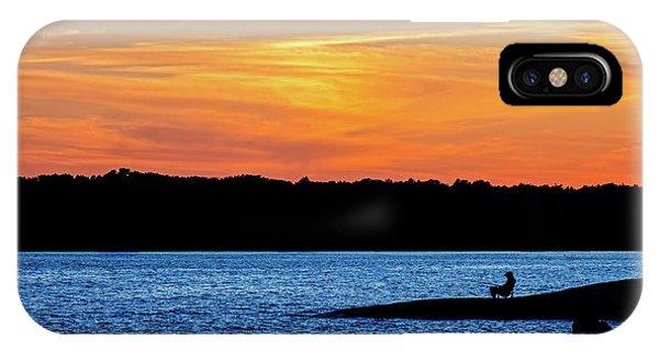 Sunset Fisherman  IPhone Case