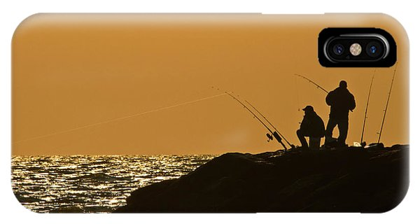 Sunset Fishermen IPhone Case