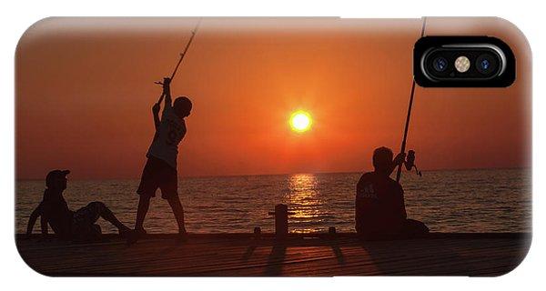 Sunset Fishermenr IPhone Case