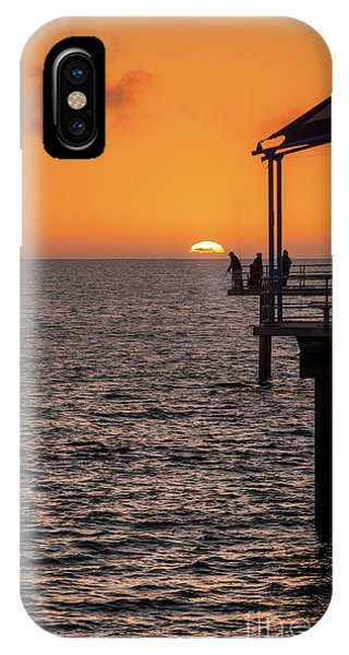 IPhone Case featuring the photograph Sunset Fishing by Ray Warren