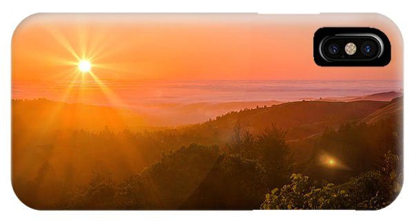 Sunset Fog Over The Pacific #1 IPhone Case