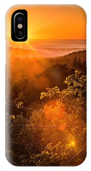 Sunset Fog Over The Pacific #2 IPhone Case