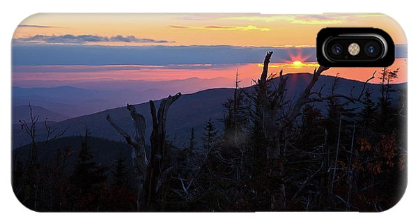 Sunset From Caps Ridge, Mount Jefferson IPhone Case