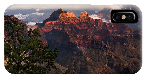 Sunset From The Grand Canyon Lodge Phone Case by Adam Schallau