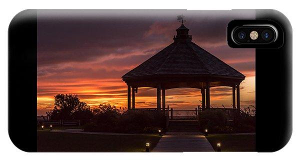 Sunset Gazebo Lavallette New Jersey IPhone Case