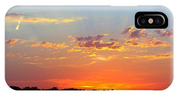 Sunset Glory Orange Blue IPhone Case