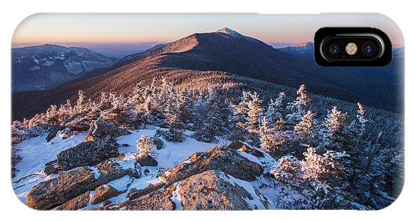 Sunset Glow On Franconia Ridge IPhone Case