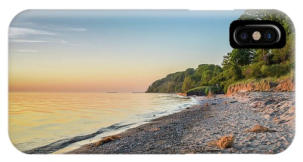 Sunset Glow Over Lake IPhone Case