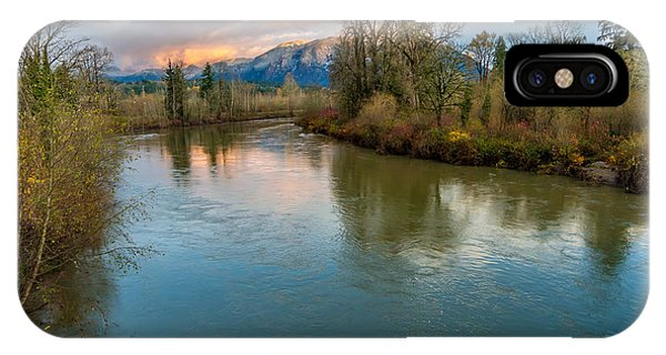 Sunset Glow Over The Snoqualmie River IPhone Case