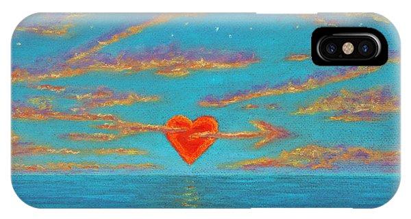 Sunset Heart 01 IPhone Case