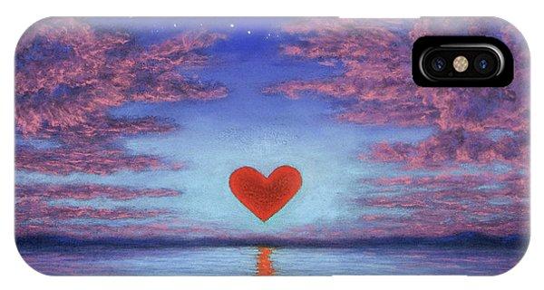 Sunset Heart 02 IPhone Case