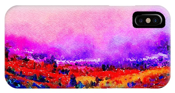 IPhone Case featuring the painting Sunset Hills by Angela Treat Lyon