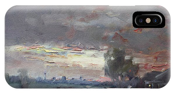 Sunset In A Rainy Day IPhone Case