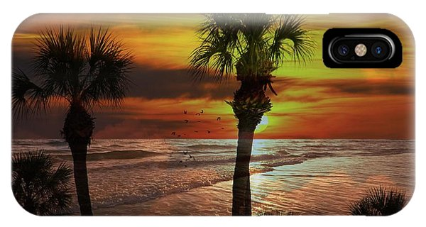 Sunset In Florida IPhone Case