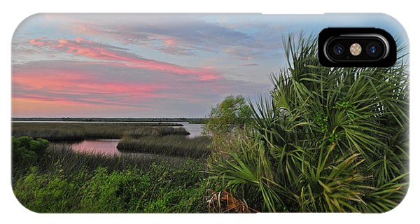 D32a-89 Sunset In Crystal River, Florida Photo IPhone Case